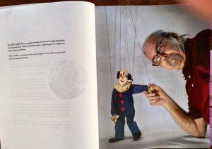 Alan Cook with Clown Marionette