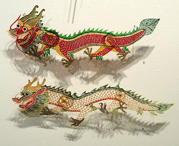 Asian Dragon Shadow Puppets